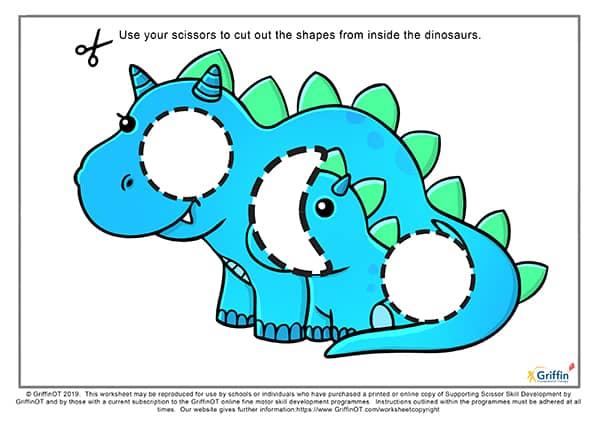 dinosaur cutting sheet griffinot