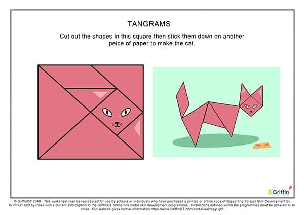 Tangram cutting sheet griffinot