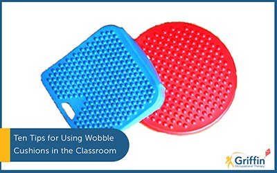 wobble Cushions text ten tips for using wobble cushions