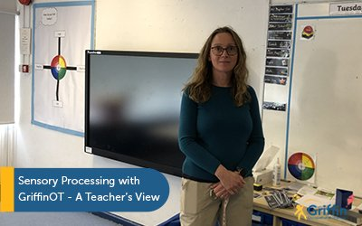 Lisa standing in her classroom