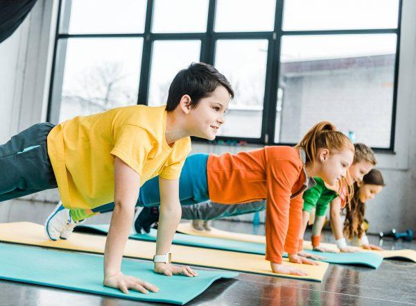 children doing yoga text sensory movement breaks