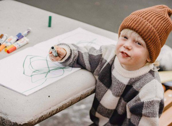 boy scribbling