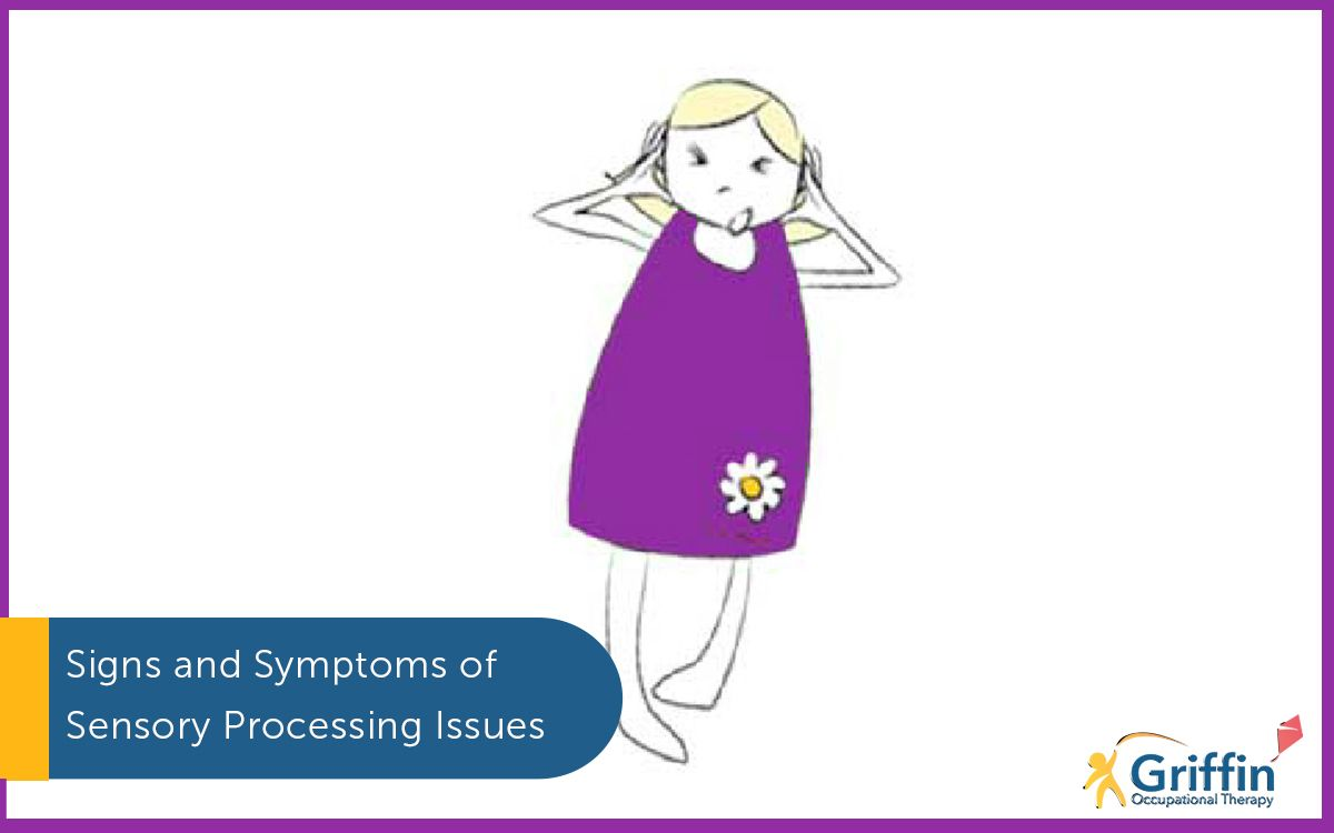 cartoon girl with her hands over her ears signs and symptoms of sensory issues