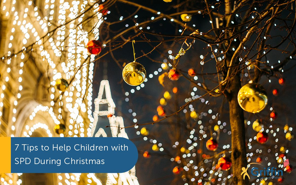 christmas lights in trees text 7 tips to help children with sensory issues during christmas